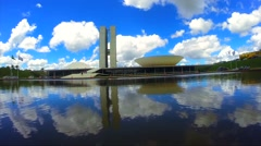 The National Congress of Brazil in Brasilia city capital of Brazil Stock Footage