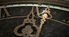 Antique Clock Macro Stock Illustration