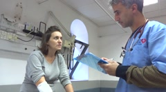 Sick woman at hospital Stock Footage