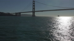 Golden Gate Bridge in a sunny afternoon Stock Footage