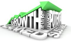 Growth Text And Arrow Stock Illustration