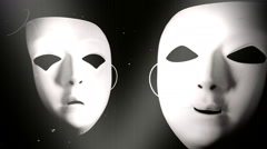 Stock Video Footage of theater mask masks happy sad face 2