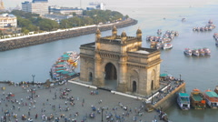 Mumbai time lapse Gateway India Maharashtra India  Stock Footage