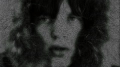 Animation of Mick Jagger face made with numbers running Stock Footage