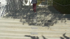 Stairs in the Googleplex park Stock Footage