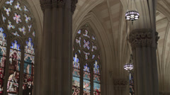 St. Patricks Cathedral. Cathedral in New York City. Church in Manhattan. Stock Footage