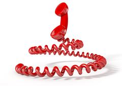 Handset And Coiled Cord Stock Illustration