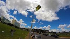 Brazil flag waving Stock Footage