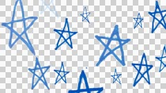 Wobbly stars background, stop-motion animation Stock Footage