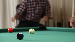 Playing Pool, Billiard Stock Footage