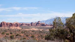 The north window arch at Arches National Park Utah Stock Footage