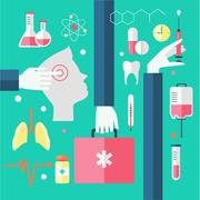Flat design modern vector illustration of medical Stock Illustration