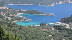 Panoramic view of the Corfu Island - stock footage