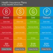 Health Insurance Plan Chart Stock Illustration