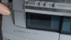 Cassette Placed In Player Stock Footage