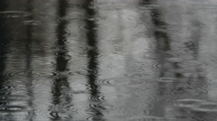 Rain drops in pond, medium # 2 Stock Footage