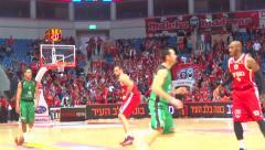 basketball game - stock footage