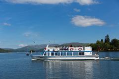 English Lake District Cumbria UK pleasure boat trip - stock photo
