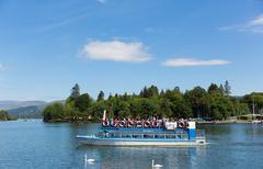 Lake District Cumbria UK pleasure boat trips Stock Photos