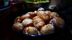 4K UHD Spanish Canadian cuisine salty cooked Potatoes Tenerife island Canary Stock Footage