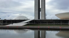 Brazilian National Congress in Brasilia, Brazil Stock Footage