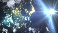 Sunrise In Asia Stock Footage