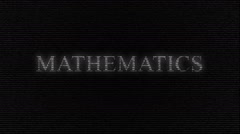 Animation of word mathematics made with numbers running Stock Footage