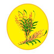 Bunch of wheat ears Stock Illustration