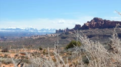 Viewpoint in Arches National Park Utah Stock Footage