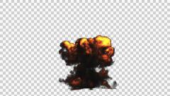 Big Explosion in Front view, CGI render for Postproduction Stock Footage