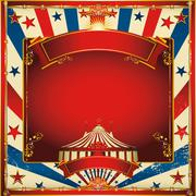Stock Illustration of Nice vintage circus background with big top