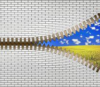 unzip the nature - stock illustration