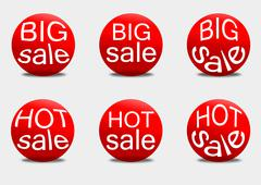 Set sale sticker - stock illustration