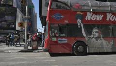 Times Square Bus Slow motion 96fps Stock Footage