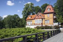 Wooden house in Estonia - stock photo