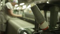 Spool of thread and loom Stock Footage