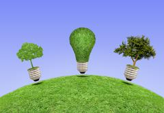 Lamp, the concept of ecology Stock Illustration
