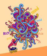 Stylish gramophone Stock Illustration