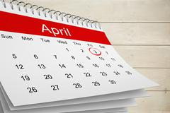 Stock Illustration of Composite image of april calendar