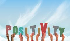 Stock Illustration of Composite image of hands showing positivity