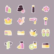 Beauty and Spa Flat icons Stock Illustration