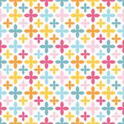 Bright vector seamless pattern. Endless texture Stock Illustration