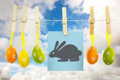 Stock Illustration of Composite image of easter bunny