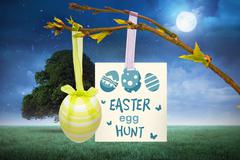 Composite image of easter egg hunt graphic Stock Illustration