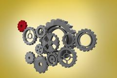 Composite image of cogs and wheels - stock illustration