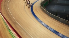Cycling in a curve Stock Footage