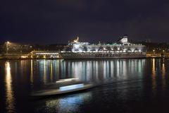 HELSINKI, FINLAND-JANUARY 5: the SILJA LINE ferry sails from Helsinki port,.F Kuvituskuvat