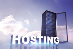 Stock Illustration of Composite image of hosting