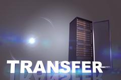 Stock Illustration of Composite image of transfer