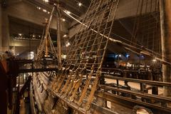 STOCKHOLM - JANUARY 6: 17th century Vasa warship salvaged from  sea at museum - stock photo